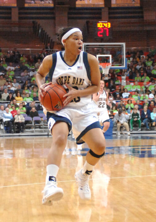Ashley Barlow scored 19 points in the 62-59 win over DePaul.