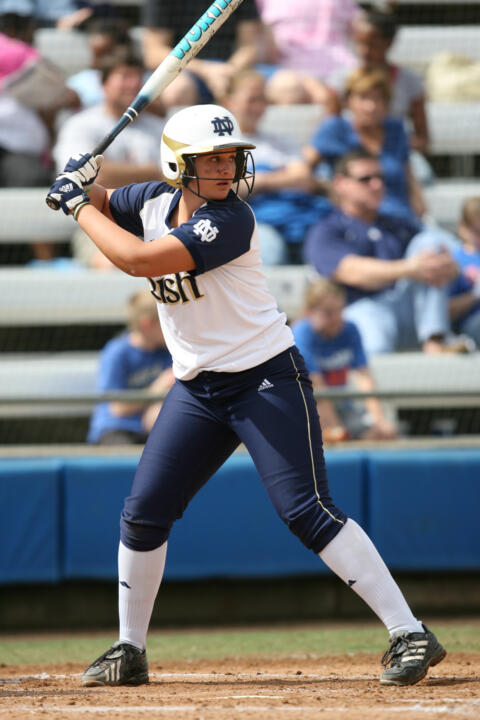 Notre Dame could only muster two hits against the top-ranked Crimson Tide on Friday.