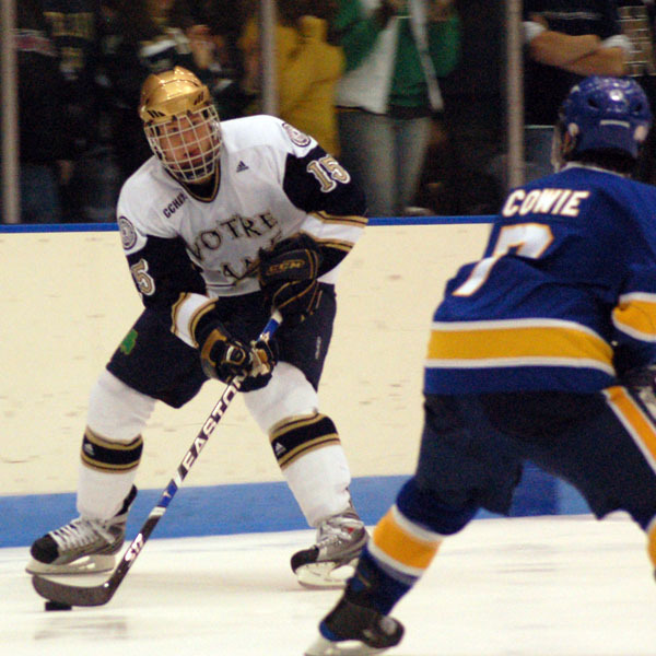 Christiaan Minella scored his career-best sixth goal of the season in Notre Dame's 4-1 loss at Ohio State.