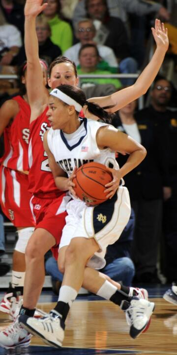 Ashley Barlow led Notre Dame with 18 points. (File Photo)