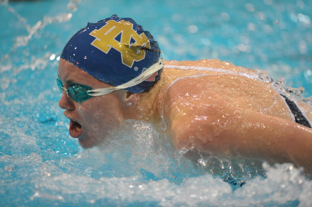 The school's 100 Fly record fell Friday evening.