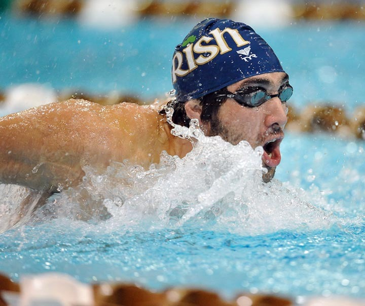 David Anderson swam the 100 Fly for Notre Dame on Saturday.