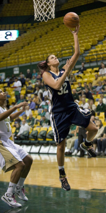 Lindsay Schrader scored 26 points and Becca Bruszewski (pictured) added 20 against South Florida on Tuesday night.