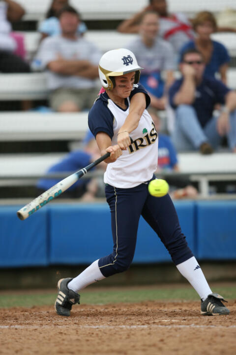Sophomore Katie Fleury was one of three Irish players to homer on Friday.