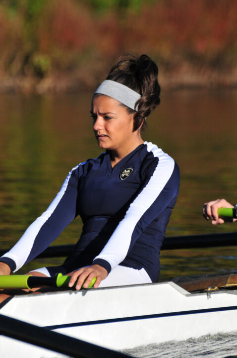 Anni Nowhitney and the first varsity eight crew earned the race victory on Sunday