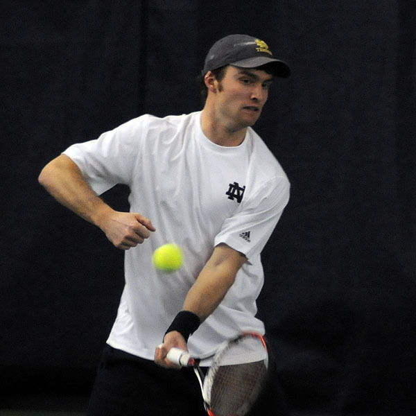 Tyler Davis' win at No. 6 singles clinched the match for the irish.