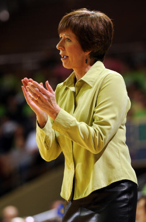 Notre Dame head coach Muffet McGraw has led the Irish to their 14th consecutive NCAA Championship appearance and 16th overall. She ranks eighth among active NCAA Division I coaches with a .641 winning percentage in the NCAA tournament, and she is tied for 10th among active coaches with 25 NCAA tourney wins.