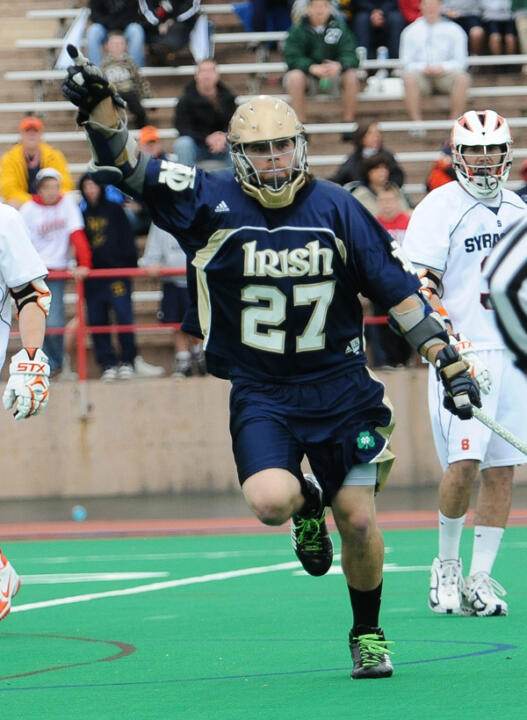 Ryan Hoff notched six points on five goals and an assist in Notre Dame's 13-7 win over Vermont on Saturday.