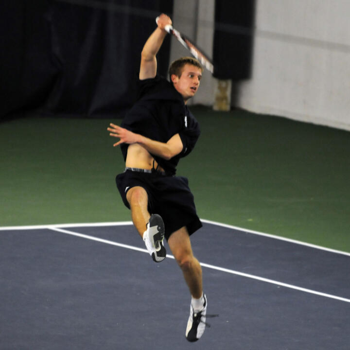 David Anderson notched a singles win versus Wisconsin.