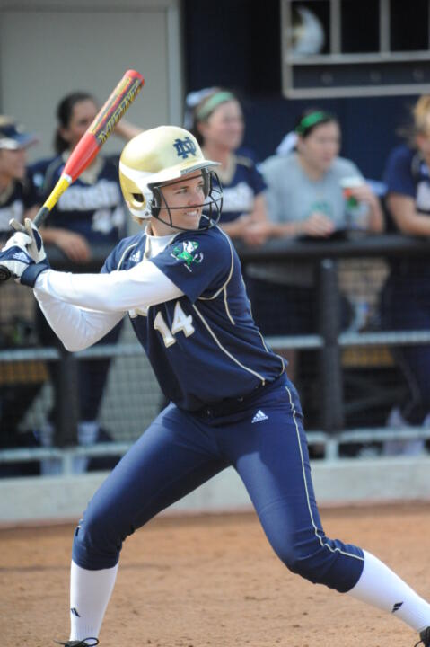 Senior Beth Northway has carried a hot bat for the Irish over the past few weeks.