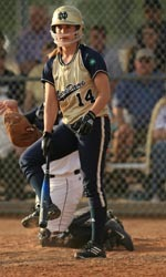 Beth Northway homered for Notre Dame in game one of Sunday's doubleheader at USF.