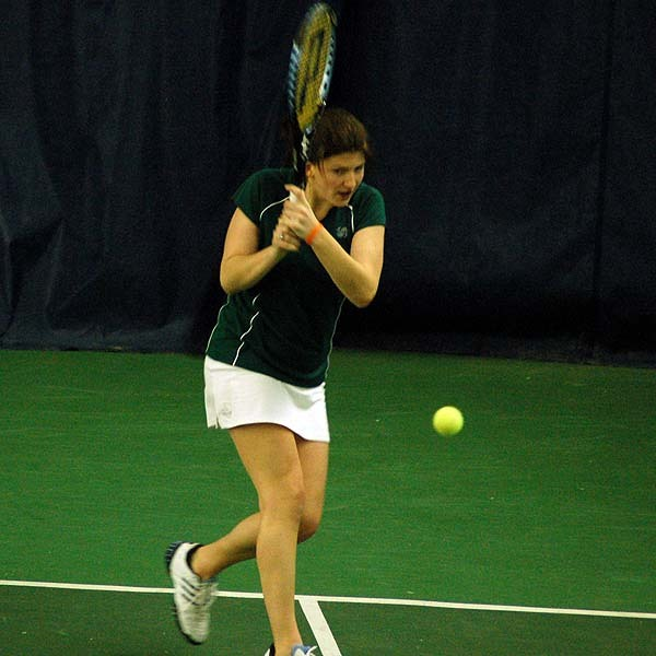 Junior Kali Krisik clinched the win and the doubles point for the Irish.