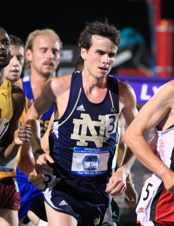 Patrick Smyth leads the BIG EAST with a time of 13:39.50 in the men's 5,000 meters.