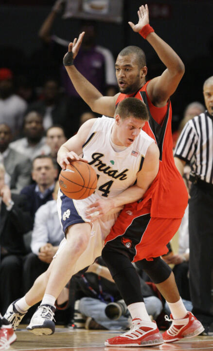 Luke Harangody was named a State Farm/NABC All-American for the second straight year.