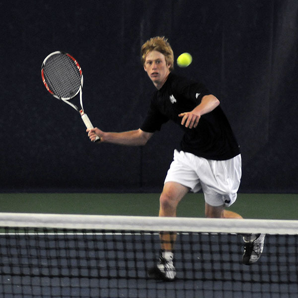Casey Watt earned his 16th singles win of the season versus Ball State.