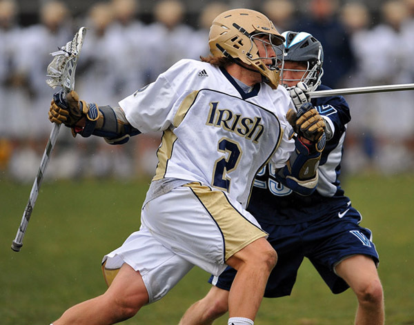 Senior attackman Duncan Swezey notched a hat trick for the Irish on Saturday.