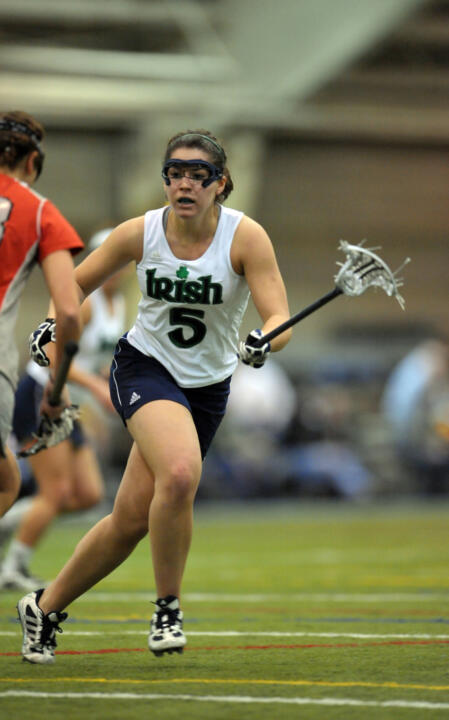Sophomore Ansley Stewart had a career-best four-goal game in Notre Dame's 6-5 BIG EAST win over Cincinnati on Friday.