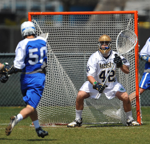 Senior Scott Rodgers allowed just one goal in 50:27 of action against Quinnipiac on Saturday.