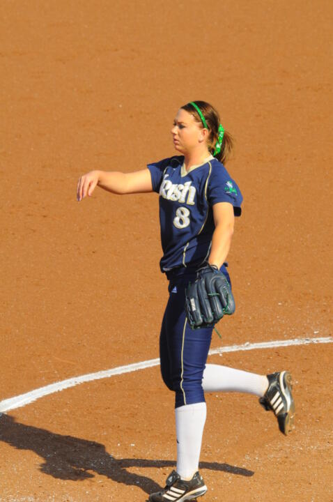 Brittney Bargar picked up another win from the circle for the Irish on Saturday at Villanova.