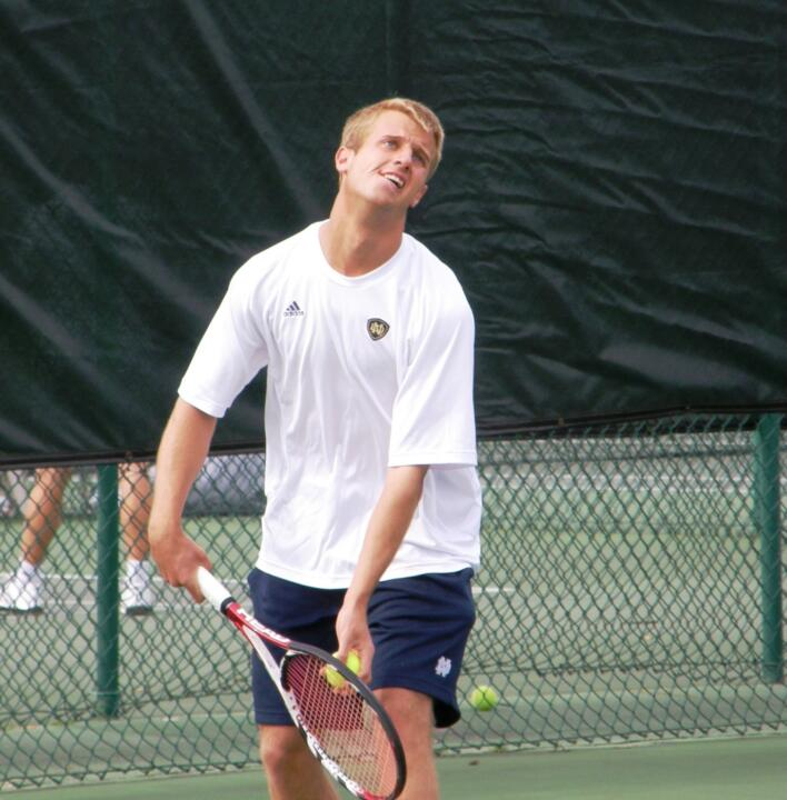 David Anderson won his fifth singles match versus Louisville.