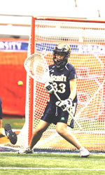 Senior goalkeeper Erin Goodman earned Inside Lacrosse Division I player of the week honors after leading Notre Dame to its first BIG EAST Championship last weekend.