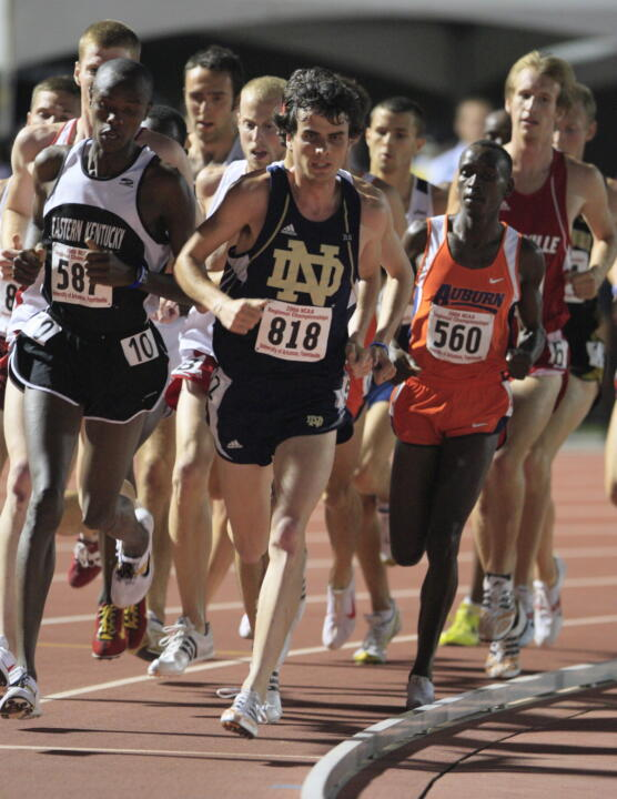 Patrick Smyth holds one of the nation's top 10,000 meter times.