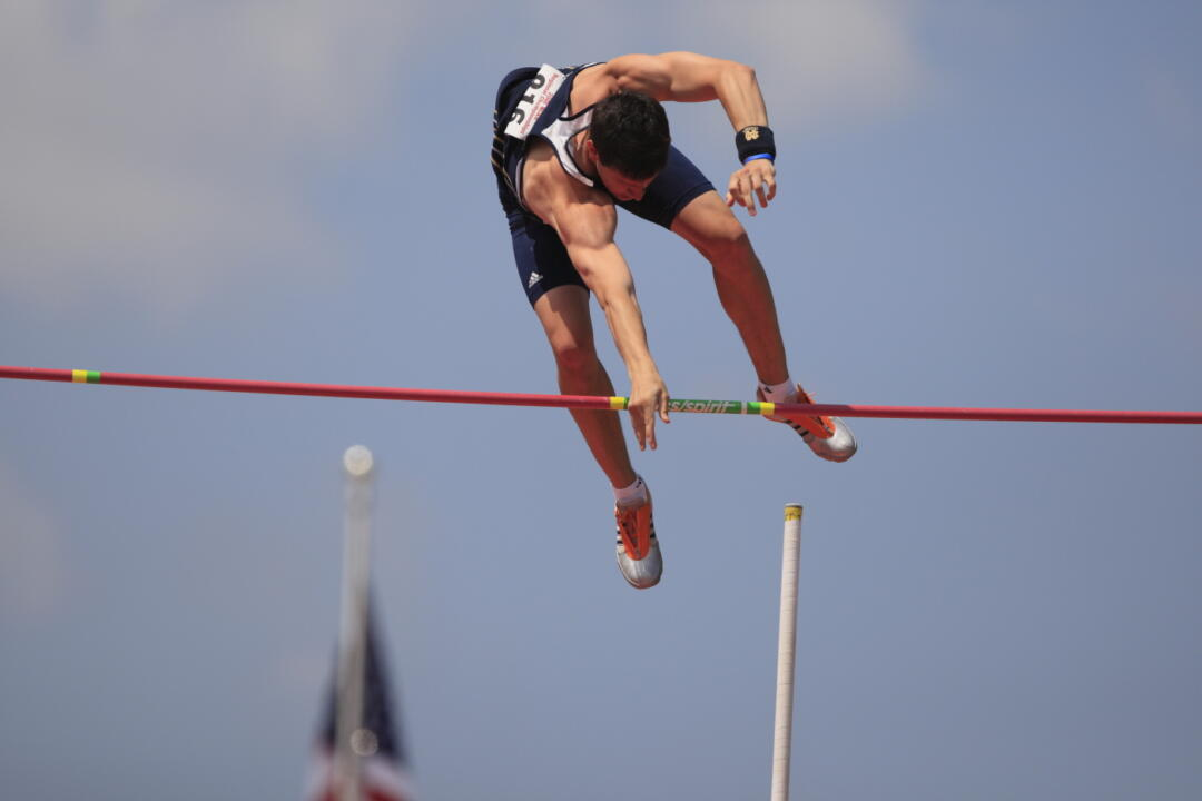 Matt Schipper finished second in the pole vault and set an NCAA regional qualifying mark Friday.