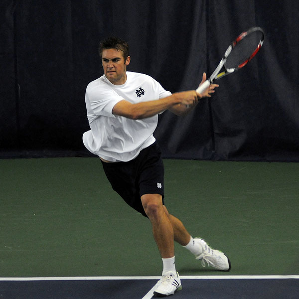 Helgeson concluded his Irish career at the NCAA singles Championship.