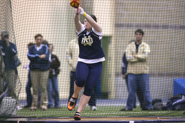 Anna Weber finished fifth in the women's hammer throw at the NCAA Mideast Regional in Louisville, Ky.