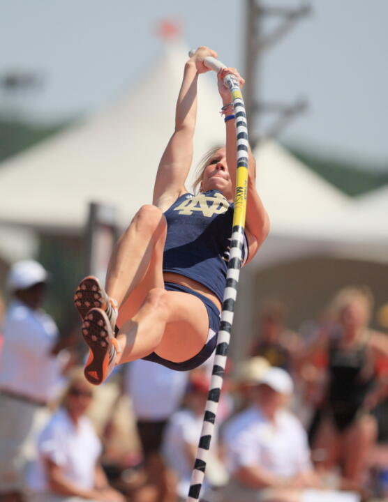 With a second All-American honor, senior Mary Saxer became the most decorated pole vaulter in program history.
