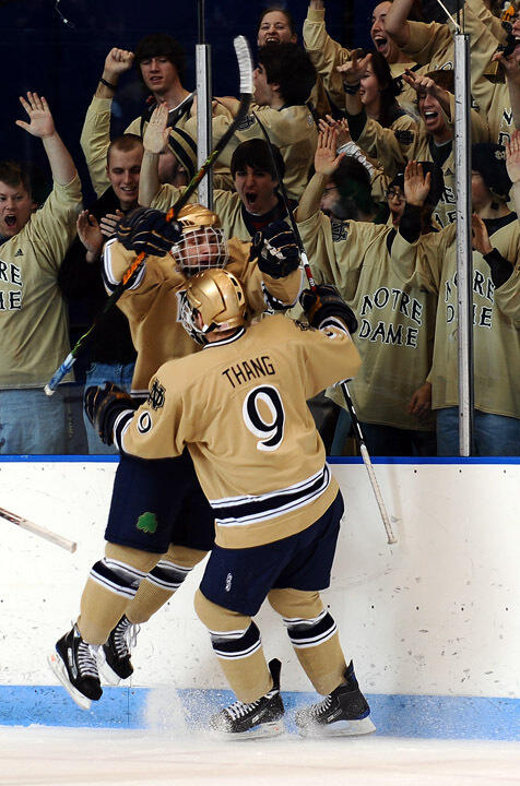 Darin Pritchett takes over as the voice of Notre Dame hockey for the 2009-10 season.