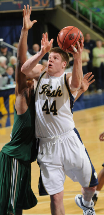 Notre Dame senior All-America forward Luke Harangody announced Monday that he has withdrawn his name from consideration for the upcoming NBA Draft and will return for his final season at the University in 2009-10.