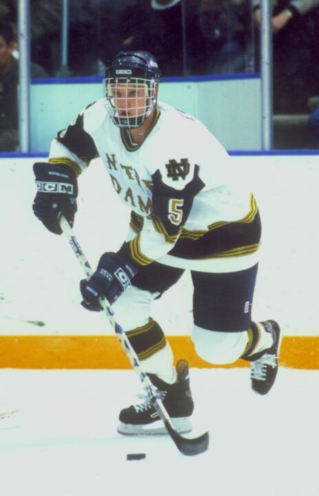 Mark Eaton was the CCHA rookie of the year for the 1997-98 season when he had 12 goals and 17 assists for Notre Dame.
