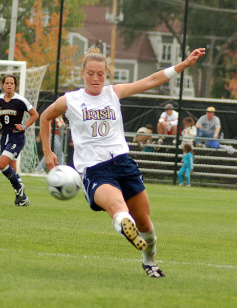 Women's soccer forward/midfielder Brittany Bock ('09) was one of five Notre Dame student-athletes to earn the 2008-09 BIG EAST Conference Scholar-Athlete Sport Excellence Award in their respective sport, the conference office announced Monday.