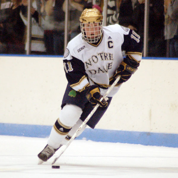 Notre Dame graduate Erik Condra inked an NHL entry level contract with the Ottawa Senators.