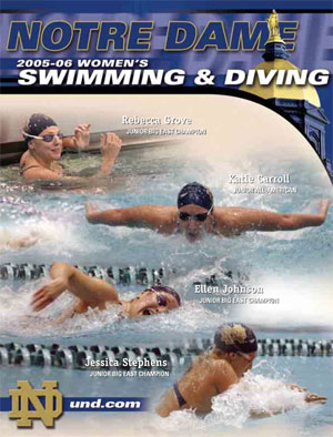 2005-06 Swimming & Diving Media Guide Cover