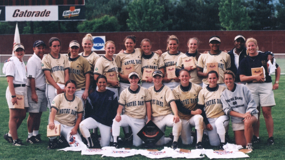 Notre Dame captured BIG EAST tournament trophies during Deanna Gumpf's first two seasons as Irish head coach in 2002 and 2003
