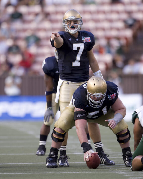 Junior quarterback Jimmy Clausen begins his third season under center for the Fighting Irish, coming off a near-perfect outing in the 2008 Sheraton Hawai'i Bowl when he completed 22-of-26 passes for 401 yards and five touchdowns in a 49-21 Notre Dame victory.