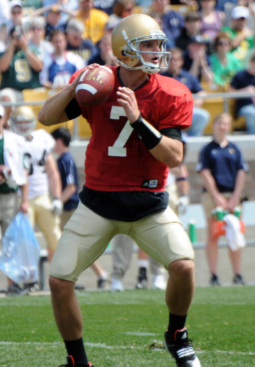 Notre Dame QB Jimmy Clausen is one of 18 returning starters in 2009 who will be on display at the open practice on Saturday, Aug. 15.