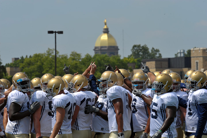 The Irish took to the field for Day 10 of Fall Practice