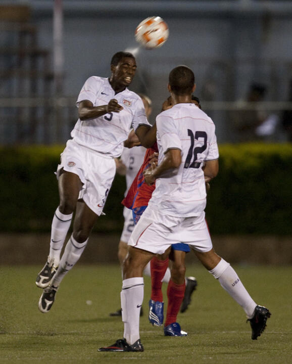 Notre Dame's Aaron Maund (above) and Dillon Powers are veterans of the U.S. soccer program.