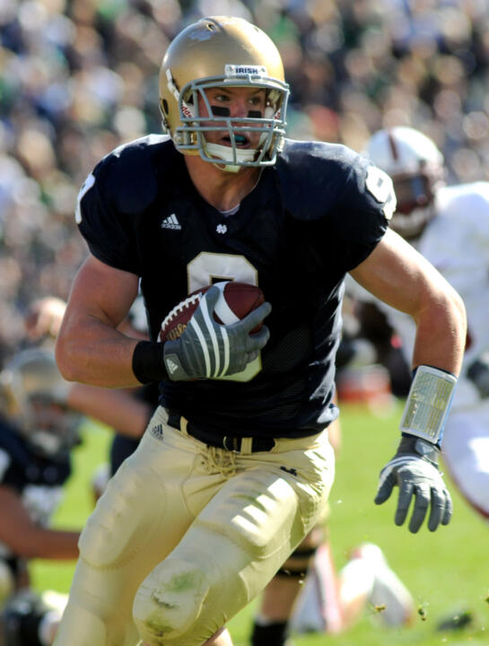 Sophomore tight end Kyle Rudolph will be the guest for the Official Notre Dame Football Raido Show on Monday, Sept. 21.