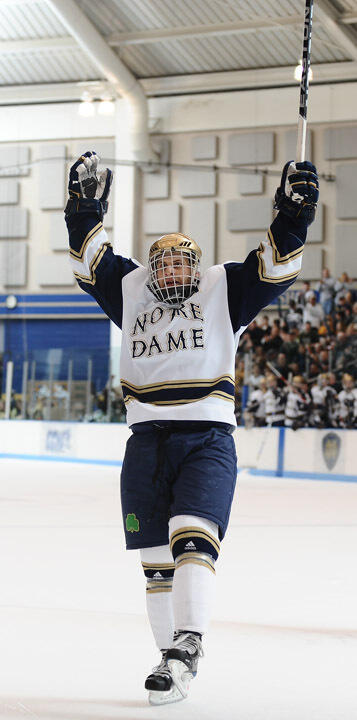 Senior left wing Ryan Thang will serve as Notre Dame's team captain for the 2009-10 season.