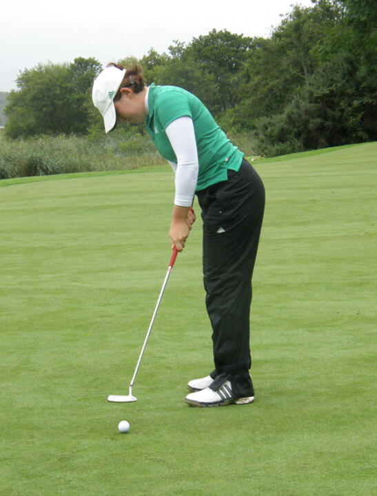 Katie Allare made her irish debut in the first round of the Bettie Lou Evans Invitational.