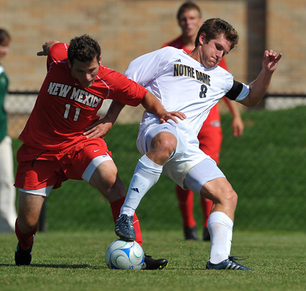 Senior midfielders Michael Thomas (pictured) and Justin Morrow were named to the Berticelli all-tournament team.