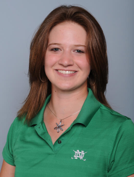 Becca Huffer carded the lowest round of her Irish career in the second round of the Windy City Collegiate.