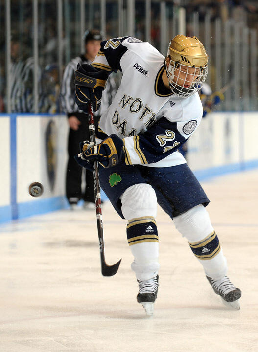Calle Ridderwall and the Notre Dame hockey team are scheduled to appear on television 11 times during the 2009-10 season.