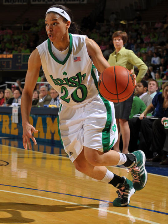 Notre Dame was picked by the BIG EAST coaches to finish second in the conference this season, while senior guards Ashley Barlow (pictured) and Lindsay Schrader were named to the Preseason All-BIG EAST Team and rookie guard Skylar Diggins was chosen as the BIG EAST Preseason Freshman of the Year.