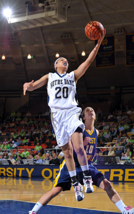 Senior guard/co-captain Ashley Barlow and the Fighting Irish will play on national or regional TV 11 times during the 2009-10 season, including six appearances on the ESPN family of networks.