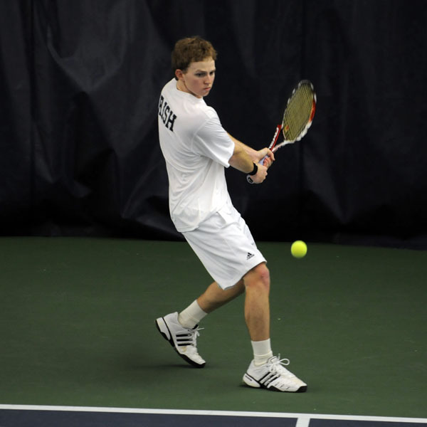 Stephen Havens earned a straight sets win in the first round of the ITA Midwest Regional singles main draw.